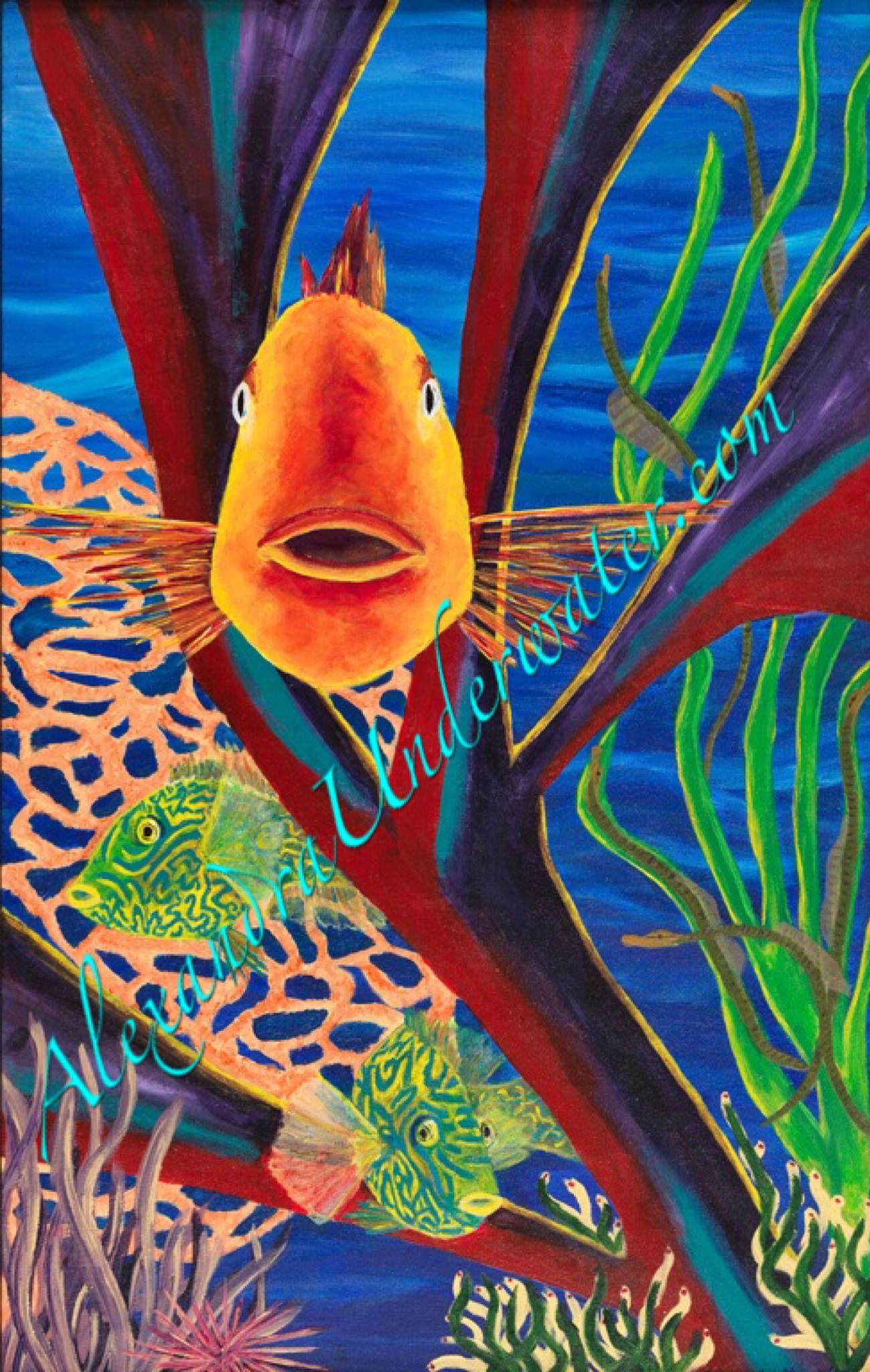 Giclée Prints - Alexandra: Underwater
