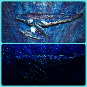 Blacklight Whale
